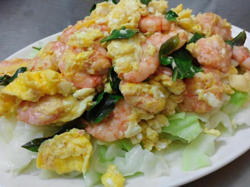 塔香蝦蝦蛋