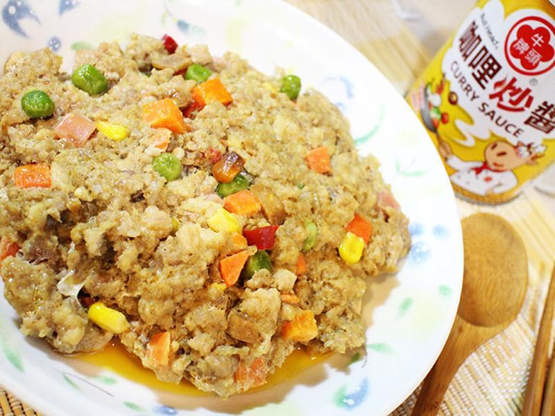 咖哩蔬菜蒸肉餅【牛頭牌咖哩新食代】