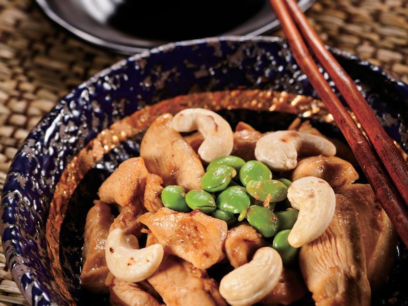 高纖毛豆腰果炒雞柳