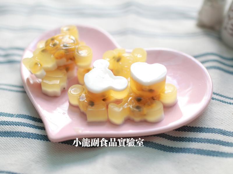 寶寶食譜【百香果牛奶雙色果凍】