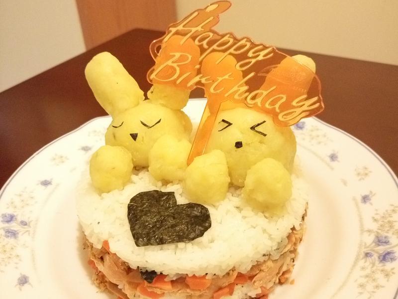 迷你三文魚飯小兔蛋糕(3吋圓模)