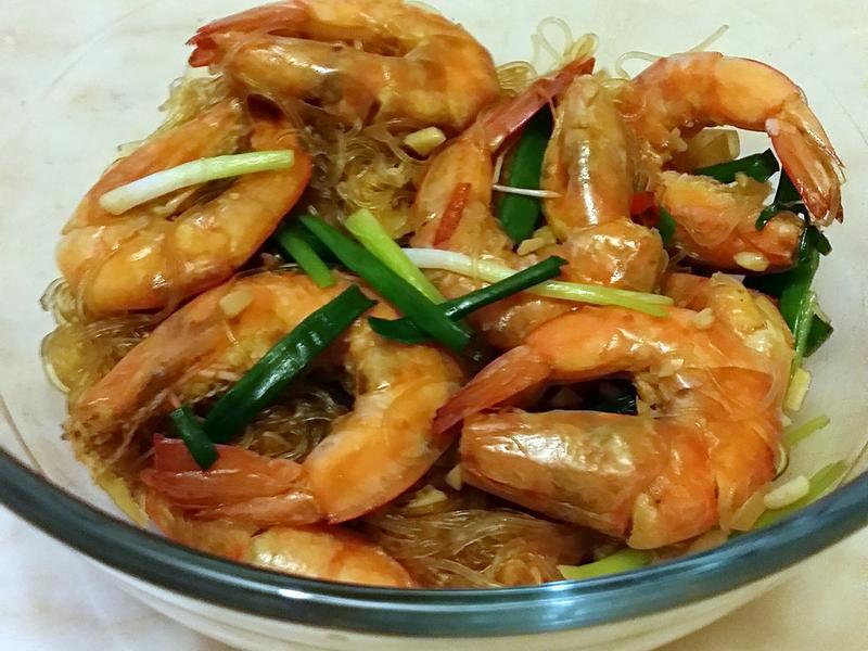 海中蝦煮粉絲