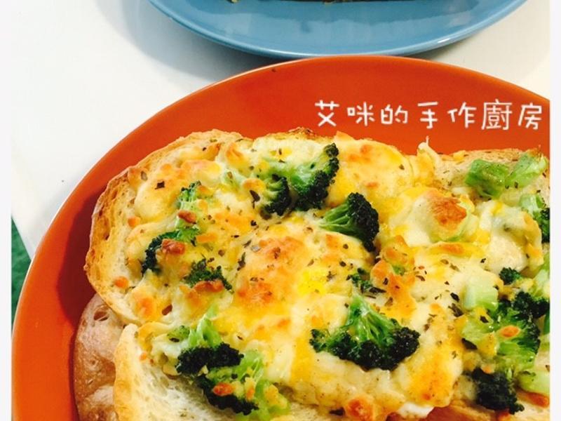 清冰箱料理-吐司變披薩