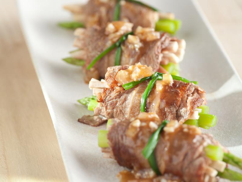香蒜蘆筍牛肉卷