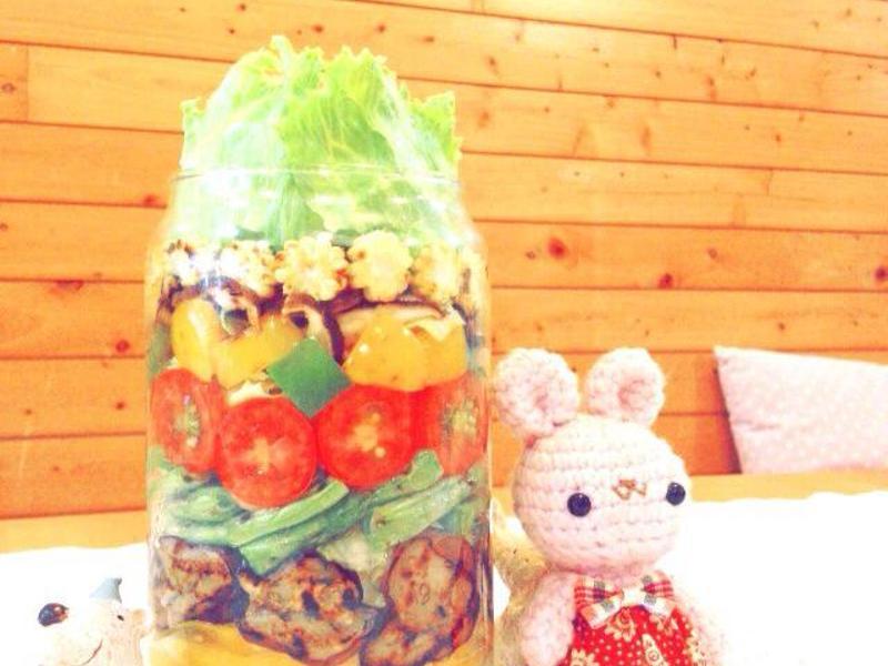 【OL也輕鬆做の罐沙拉】♥秋日野蔬沙拉♥