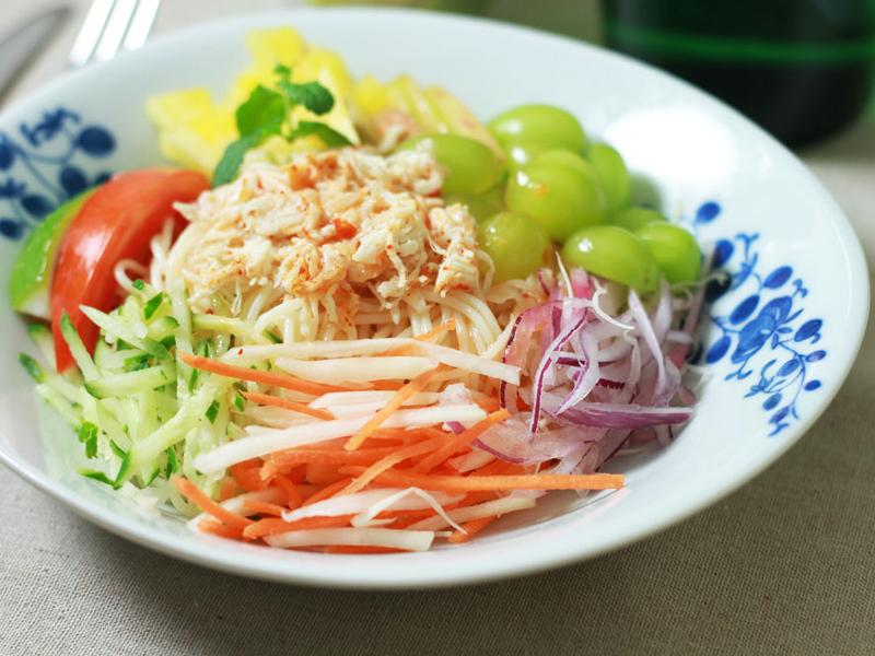 泰式雞絲涼拌冷麵_小七食堂