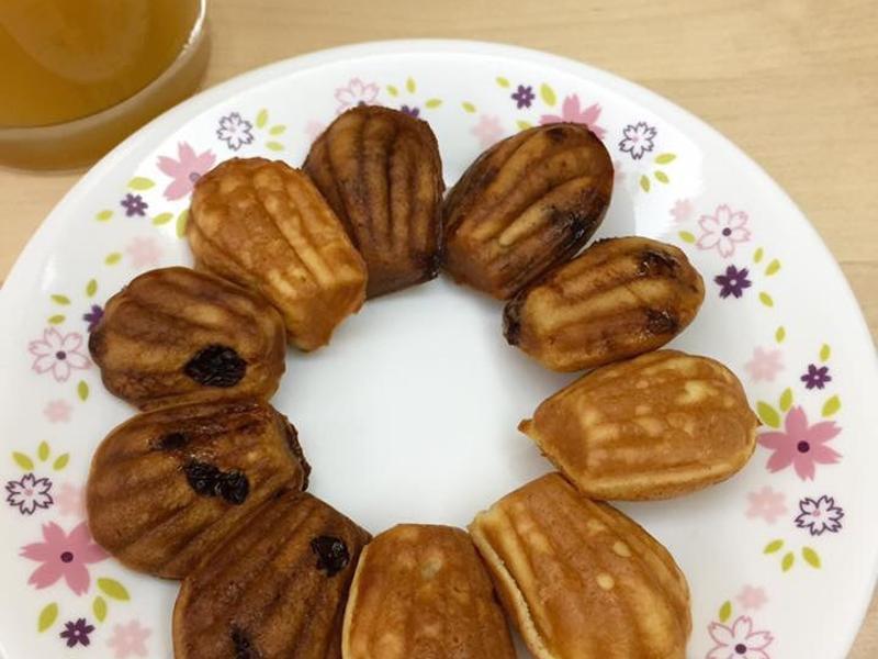 圈媽 黑糖牛奶雞蛋糕(鬆餅粉製作瑪德蓮)