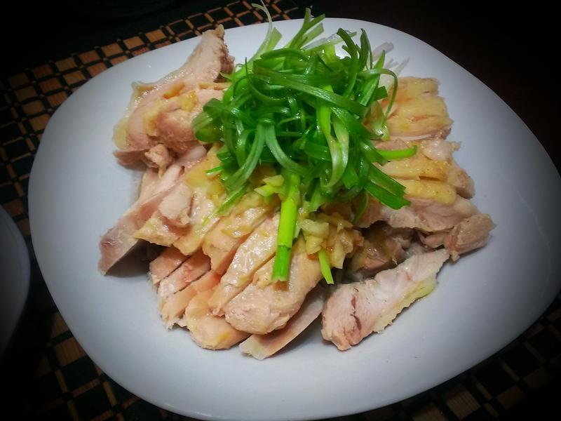 蒜味蔥油雞