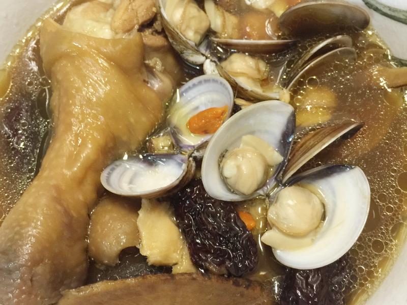 牛蒡蛤蠣雞湯