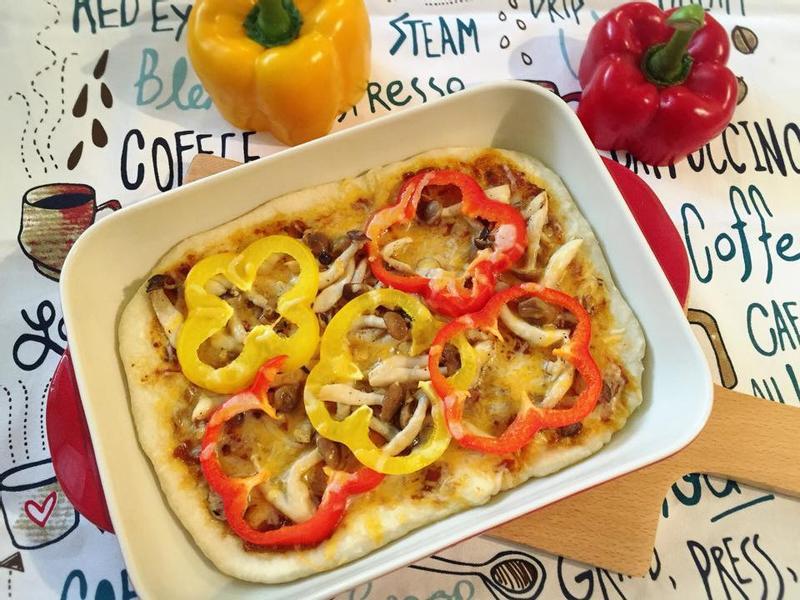 義式彩椒菇菇披薩-大同全功能蒸烤箱