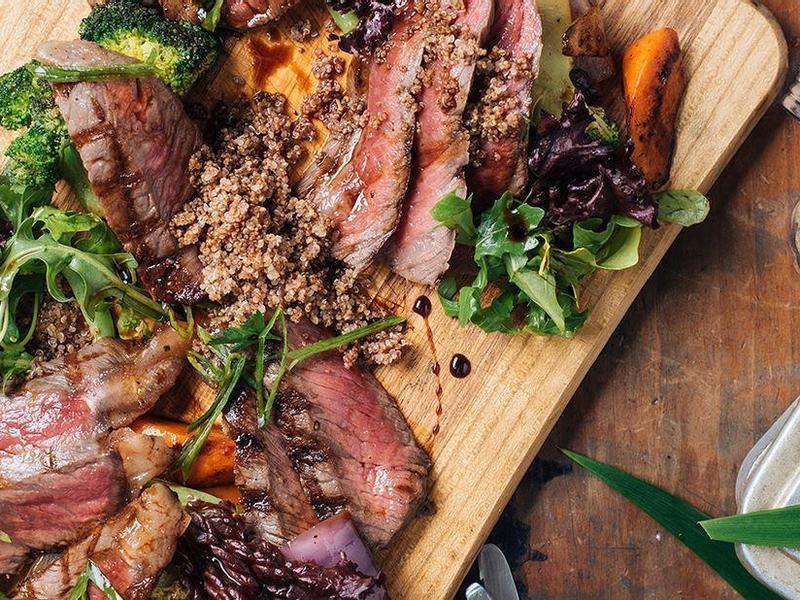 【信豐農場】烙烤牛排與紅藜沙拉