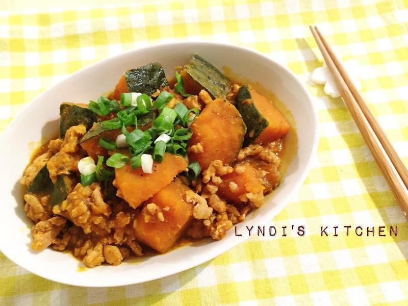 秋日料理—肉末南瓜煮