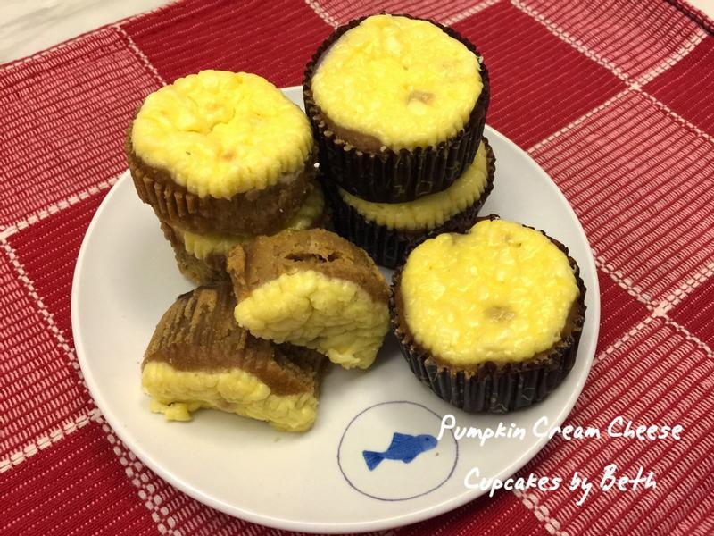 南瓜奶油乳酪杯子蛋糕