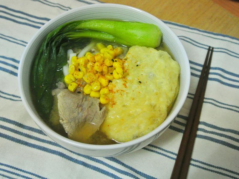 【外宿料理】味噌豬肉豆皮烏龍麵