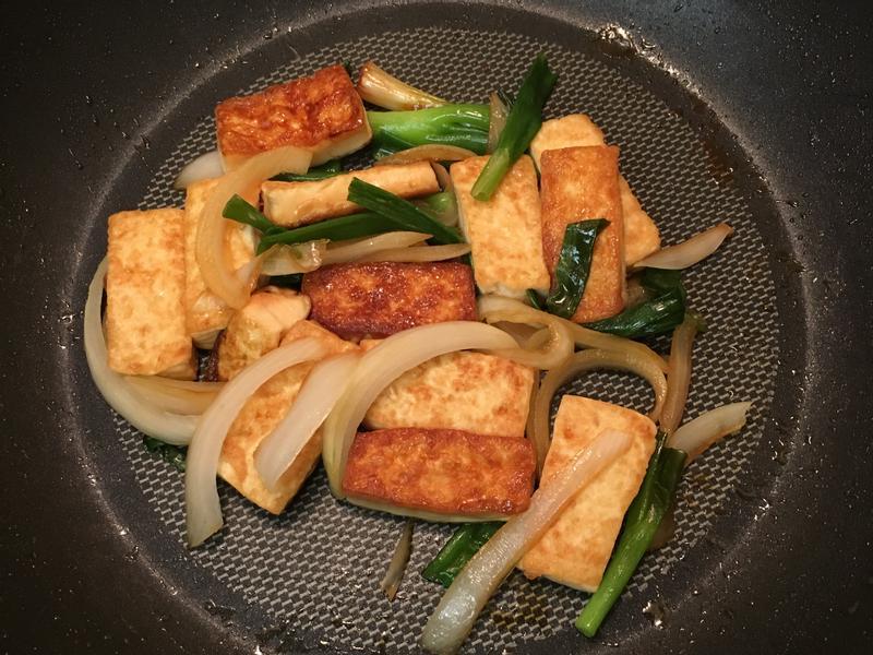 雙蔥燒豆腐