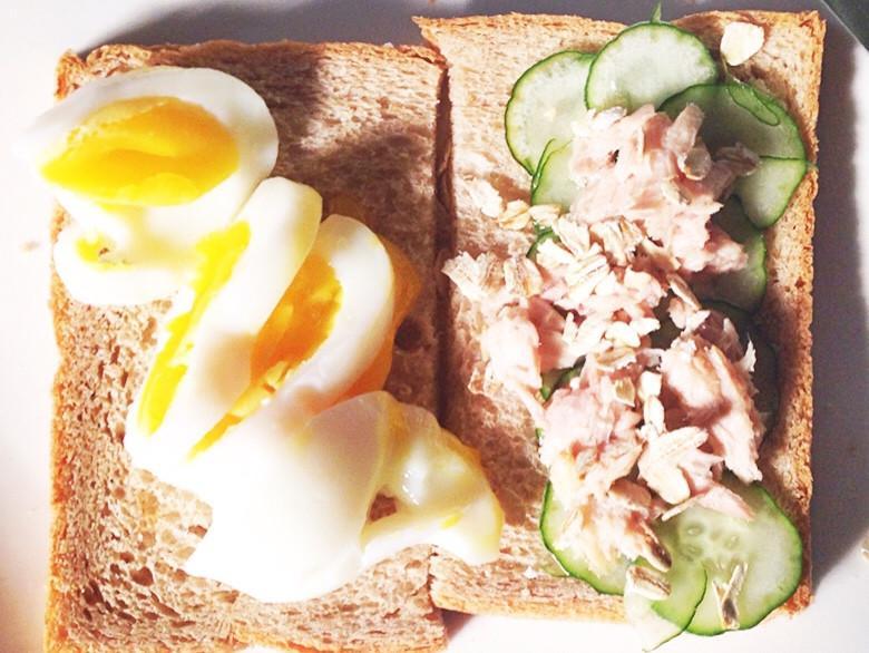 營養早餐-全麥土司與鮪魚*糖心蛋*的邂逅