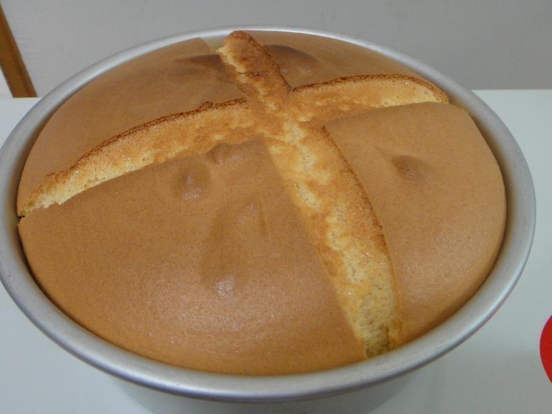 超簡單 - 戚風蛋糕(8寸模型)