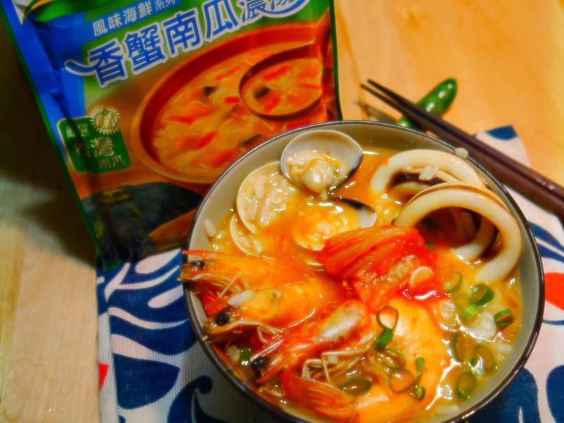 十分鐘快速料理-泡菜海鮮粥