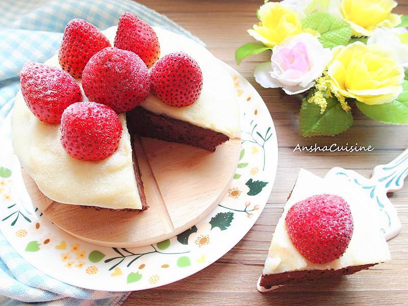 電鍋♡草莓可可蛋糕
