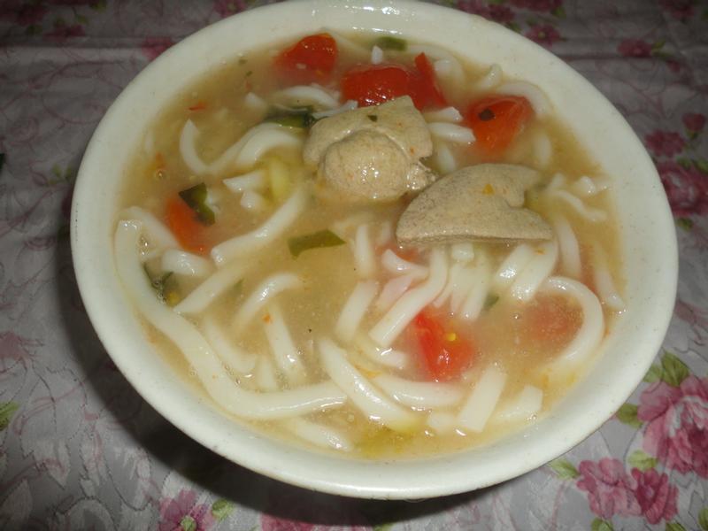 海鮮蕃茄豬肝麵