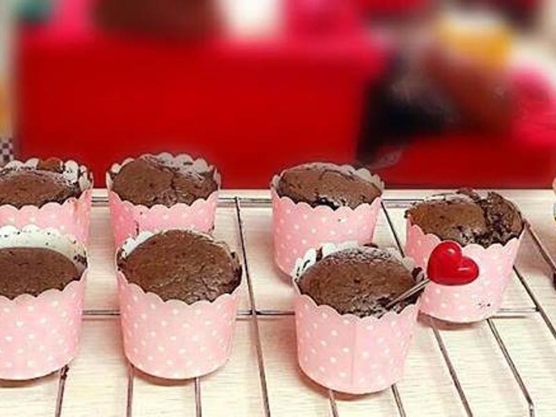 黑蒜♥黑糖戚風蛋糕