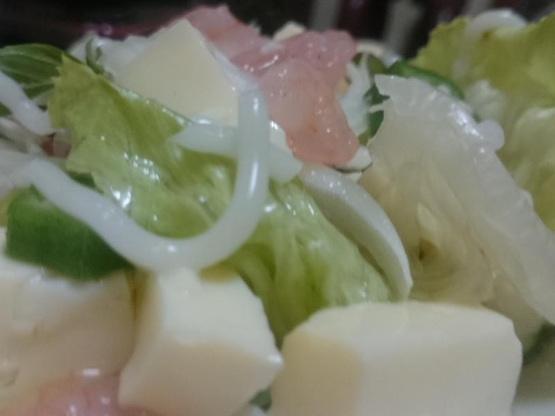 蝦仁豆腐沙拉