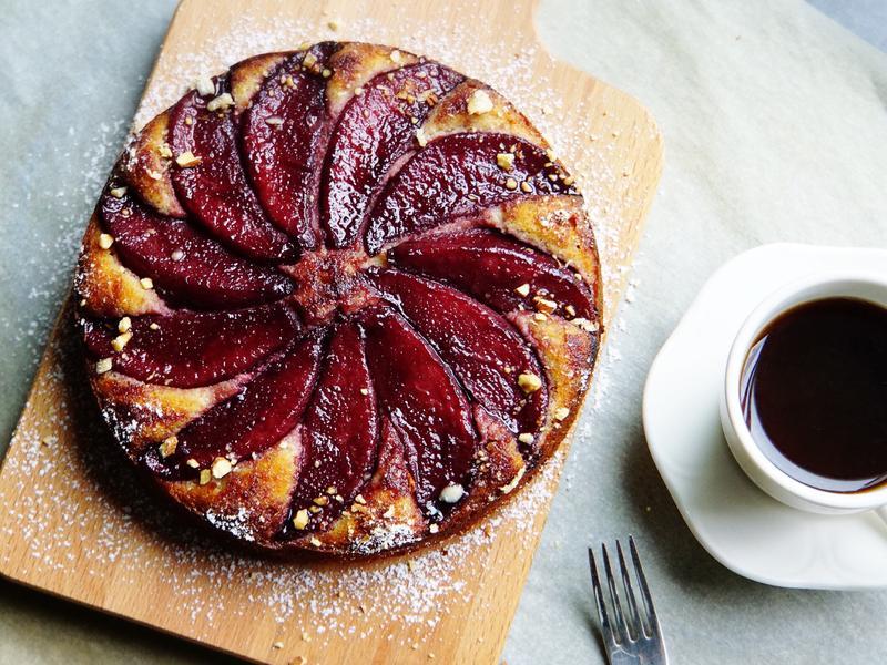 薑汁紅酒洋梨蛋糕