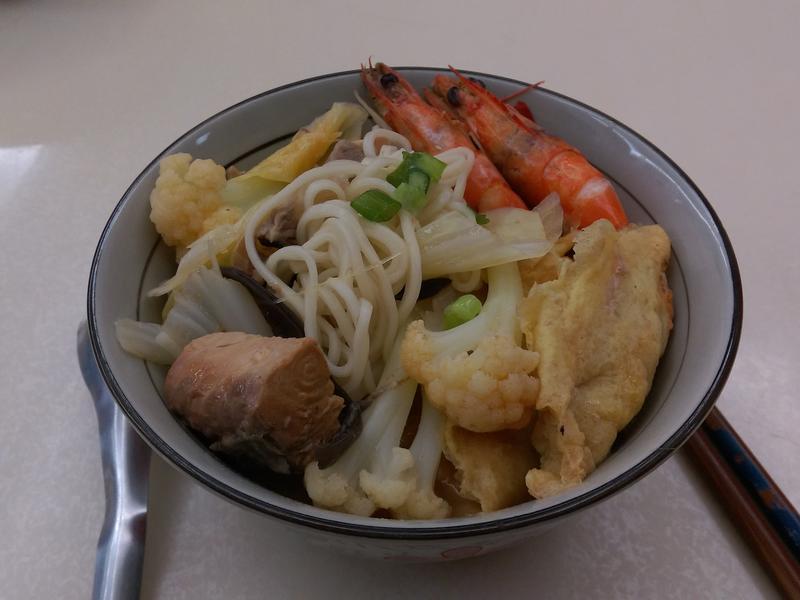 茄汁虱目魚海鮮麵