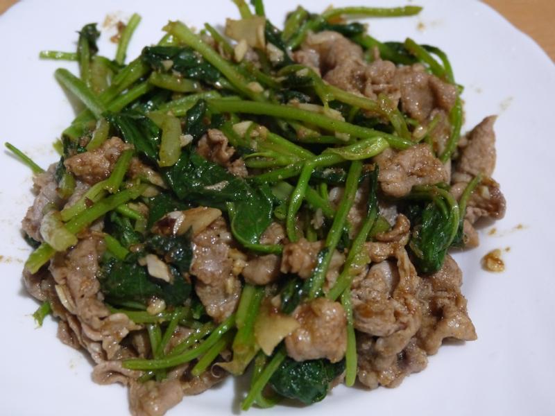 沙茶芥蘭炒肉片
