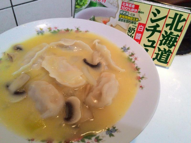 奶油玉米湯餃【好侍北海道白醬料理】