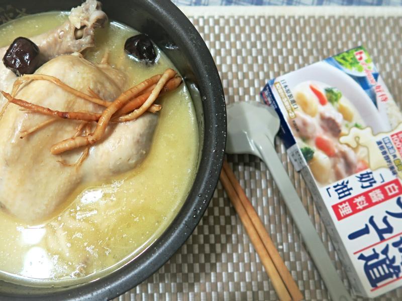 濃郁韓國蔘雞湯【好侍北海道白醬料理】