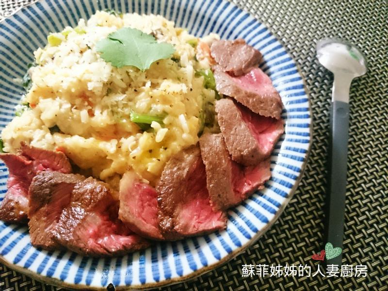 蕃茄菠菜牛排燉飯