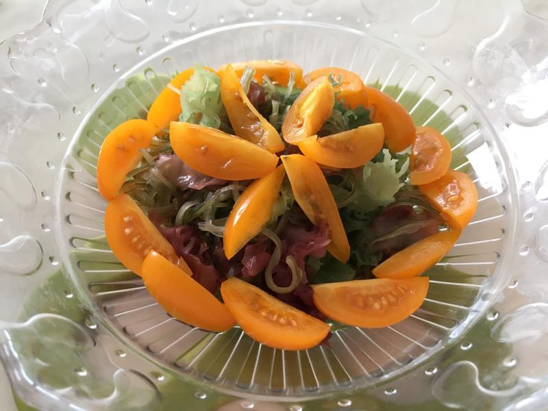 [簡單料理] 海藻番茄沙拉