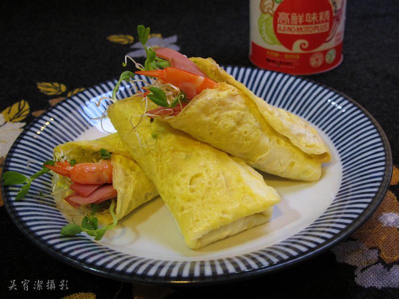 蛋皮沙拉手卷「味之素品牌」高鮮味精