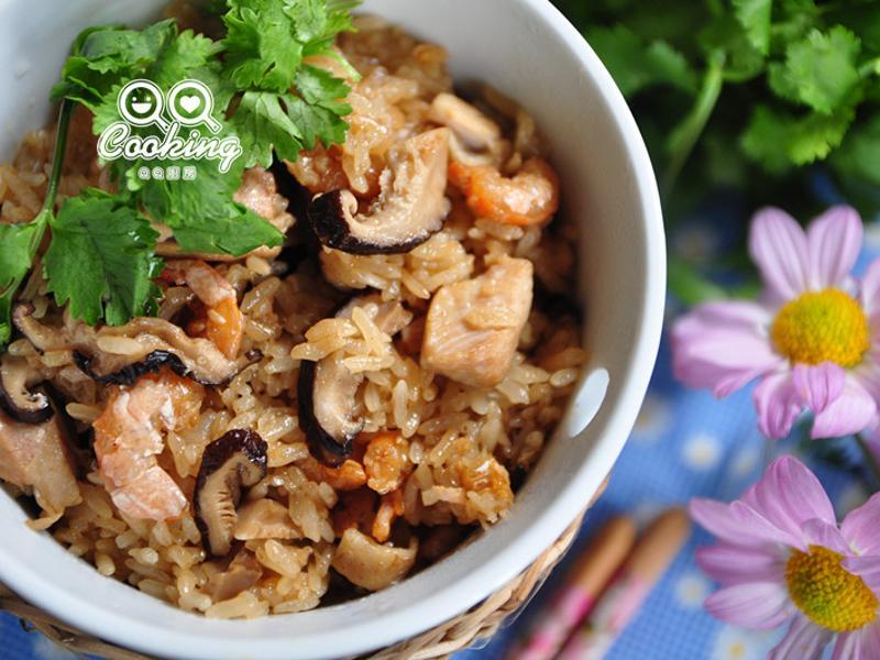 麻油香菇雞油飯