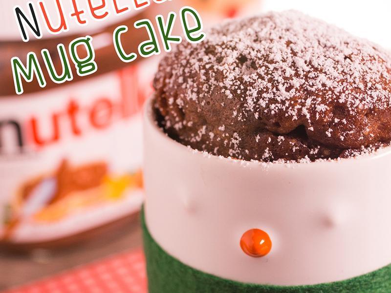 三種材料!微波爐Nutella杯子蛋糕