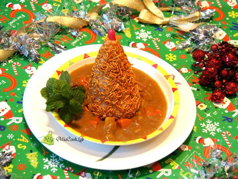 聖誕樹咖哩飯【小七美食派對】