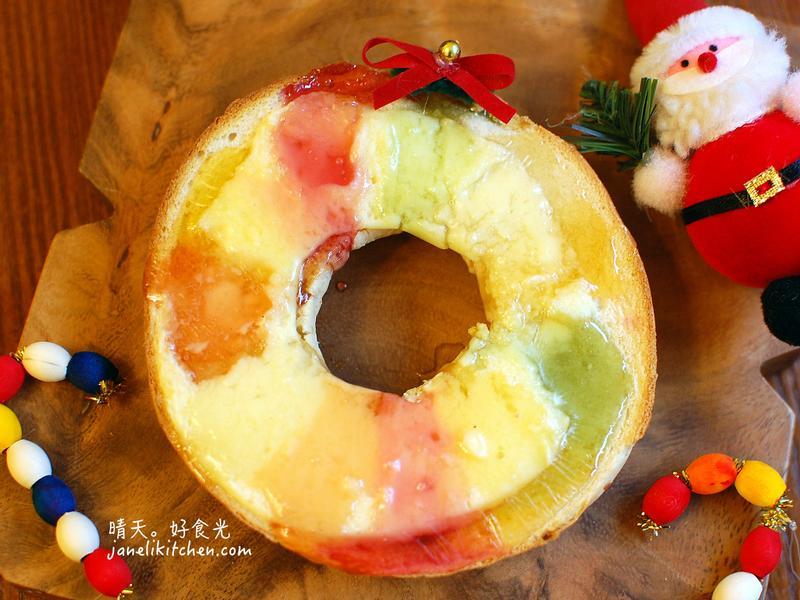 軟糖貝果聖誕花圈【小七派對美食】