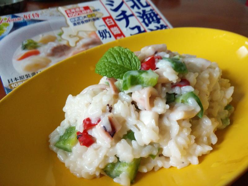 蒜片辣椒燉飯【好侍北海道白醬料理】