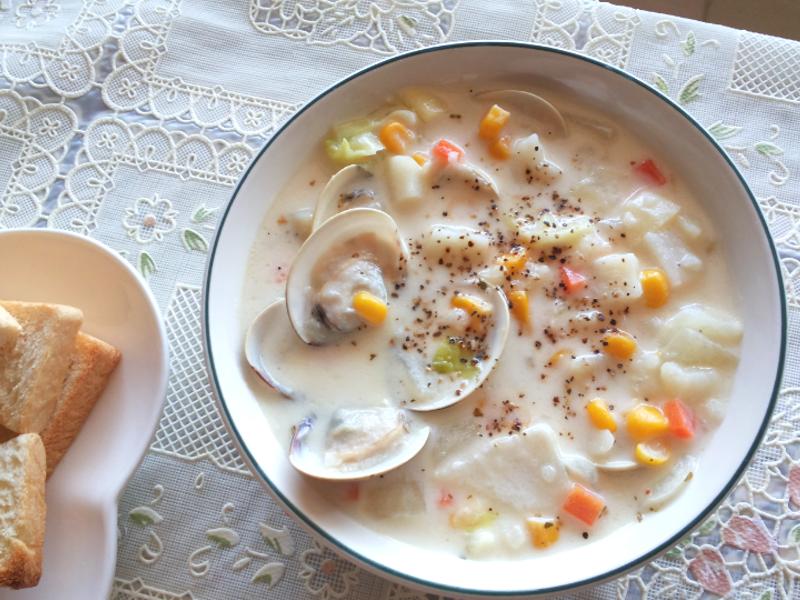 蛤蜊蔬菜巧達湯「味之素品牌」高鮮味精