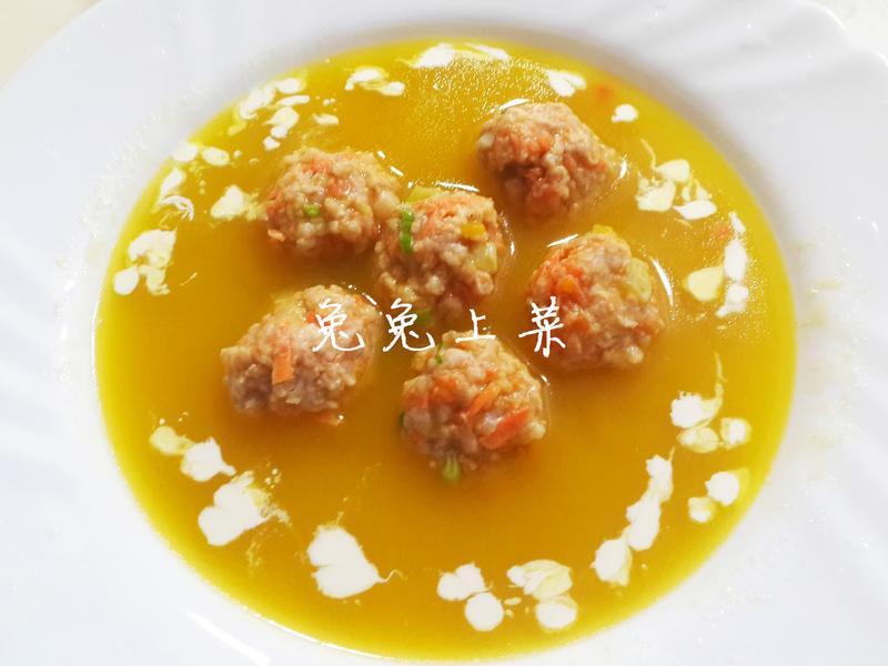 南瓜肉丸濃湯