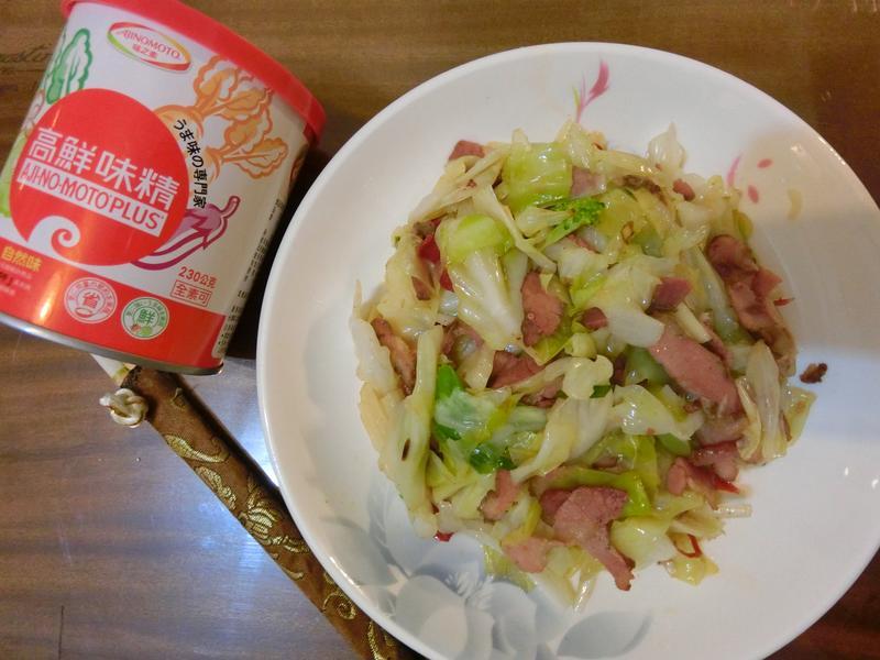 臘肉炒高麗菜[味之素品牌高鮮味精]
