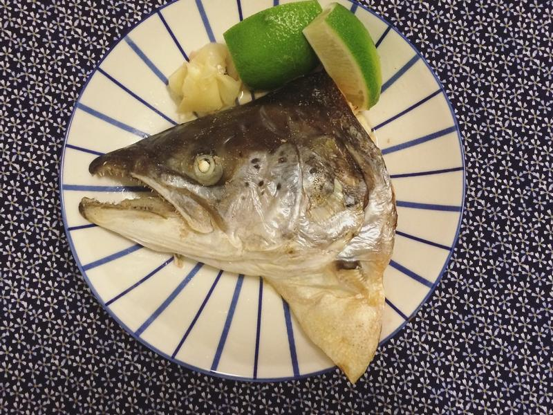 鹽烤鮭魚頭