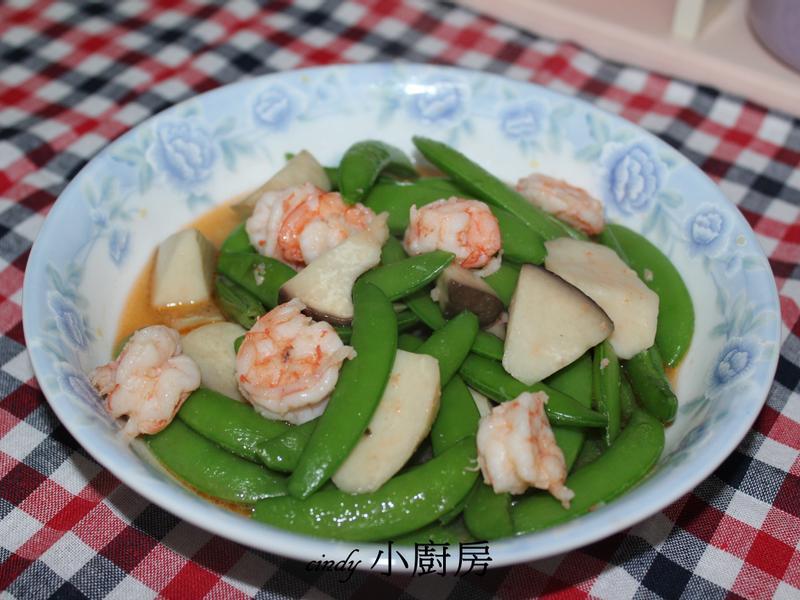 碗豆炒蝦仁