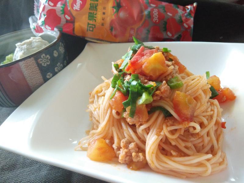 蕃茄肉末炒麵-蕃茄醬懶人料理