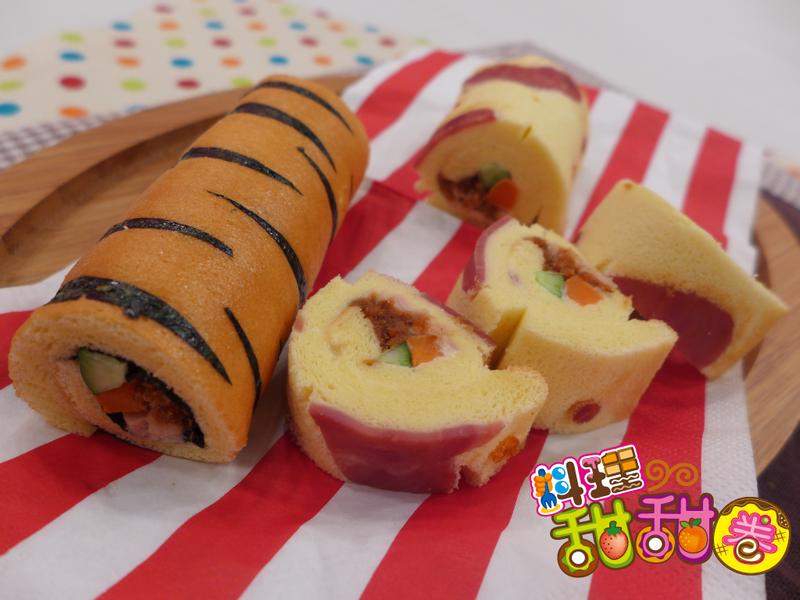 料理甜甜圈【壽司料理】蛋糕壽司捲