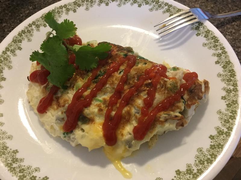 早餐西式omelette蛋餅