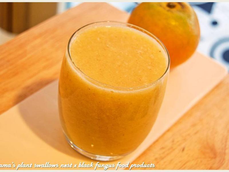 熱黑木耳橙汁.柯媽媽の植物燕窩
