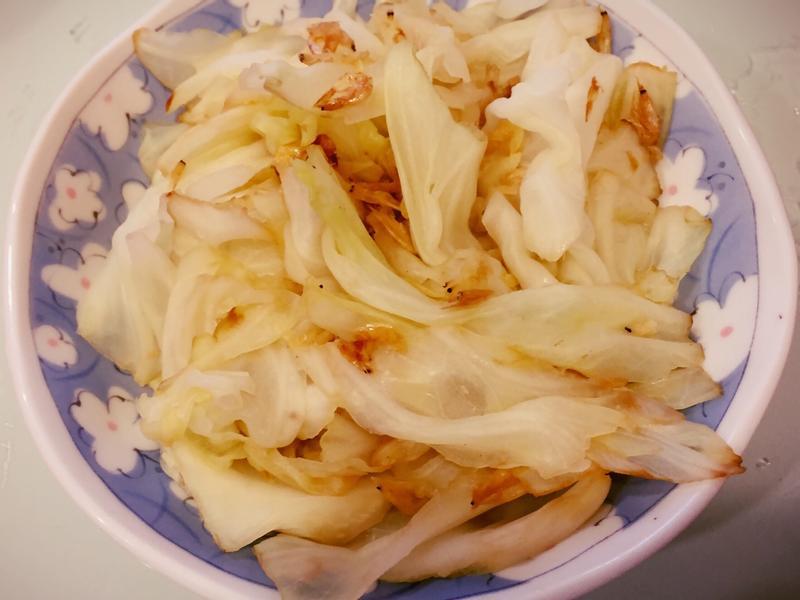 無鹽無油清爽·蝦米炒高麗菜