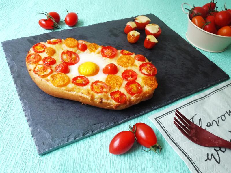義式蕃茄雞蛋乳酪麵包【全聯24節氣料理】
